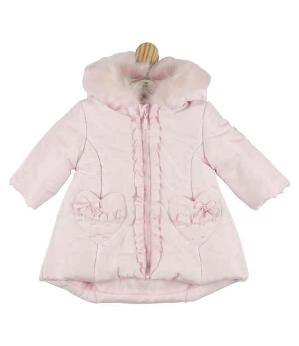 Mintini longline padded hooded coat