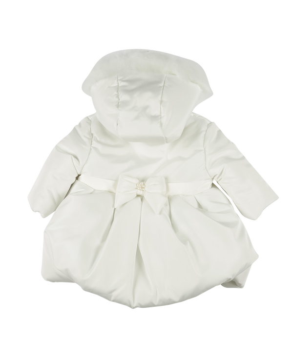 Mintini bubble padded hooded coat - ivory