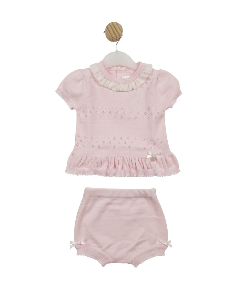 SS21 Mintini Knitted top & bloomer set