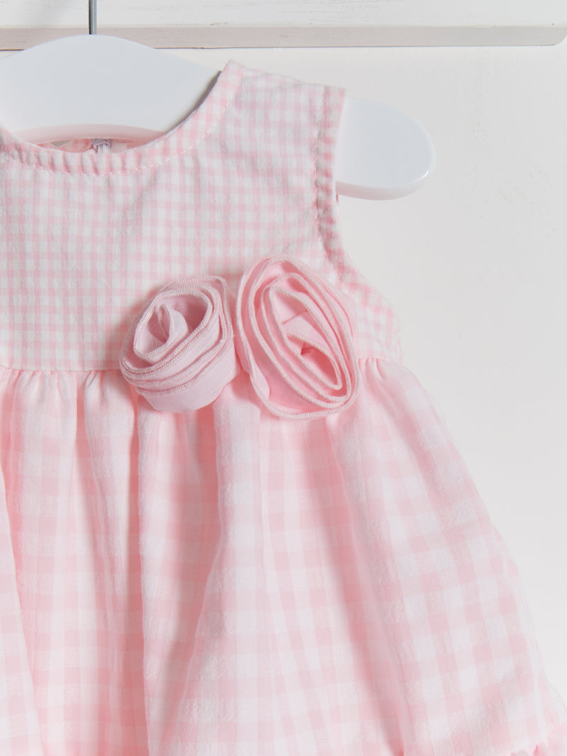PRE ORDER Mintini gingham woven dress - Rose & Albert