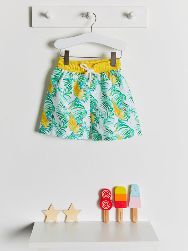 Meia Pata Parrot Swim Shorts - Rose & Albert