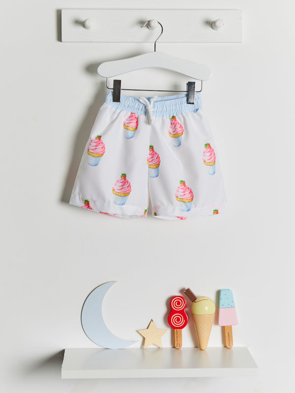 Meia Pata Cupcakes Swim Shorts - Rose & Albert