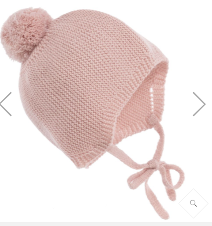 Mebi knitted bonnet - pink