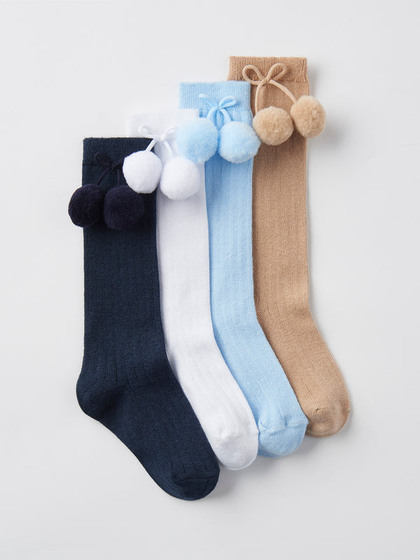 Carlomagno pom pom knee high sock - Rose & Albert