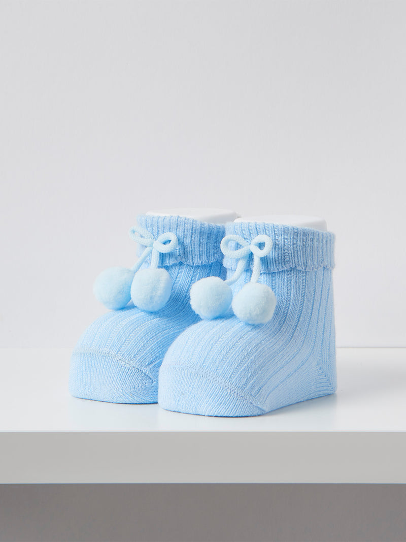 Carlomagno pom pom newborn socks - Rose & Albert