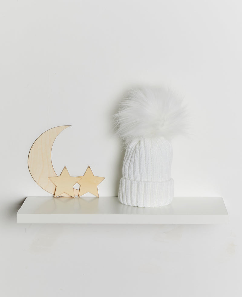 Ribbed pom pom hat - Rose & Albert