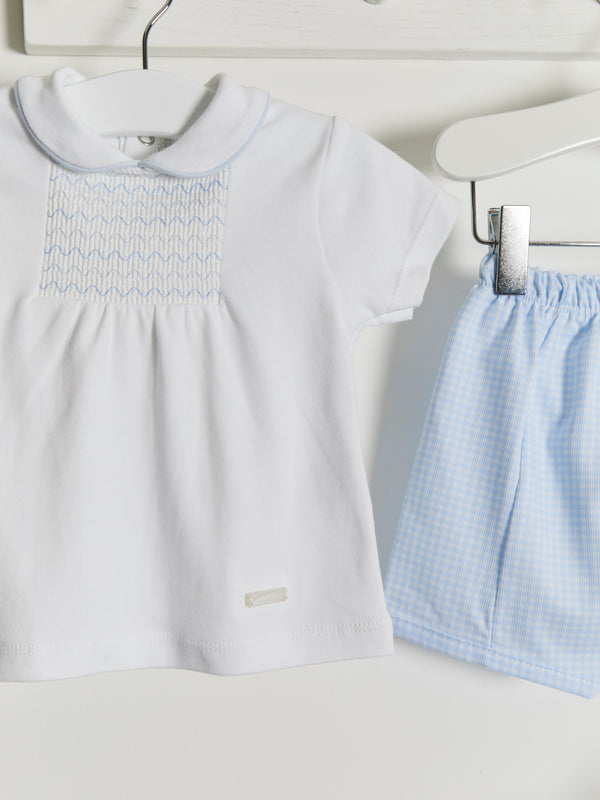 Blues Baby gingham shorts set - Rose & Albert
