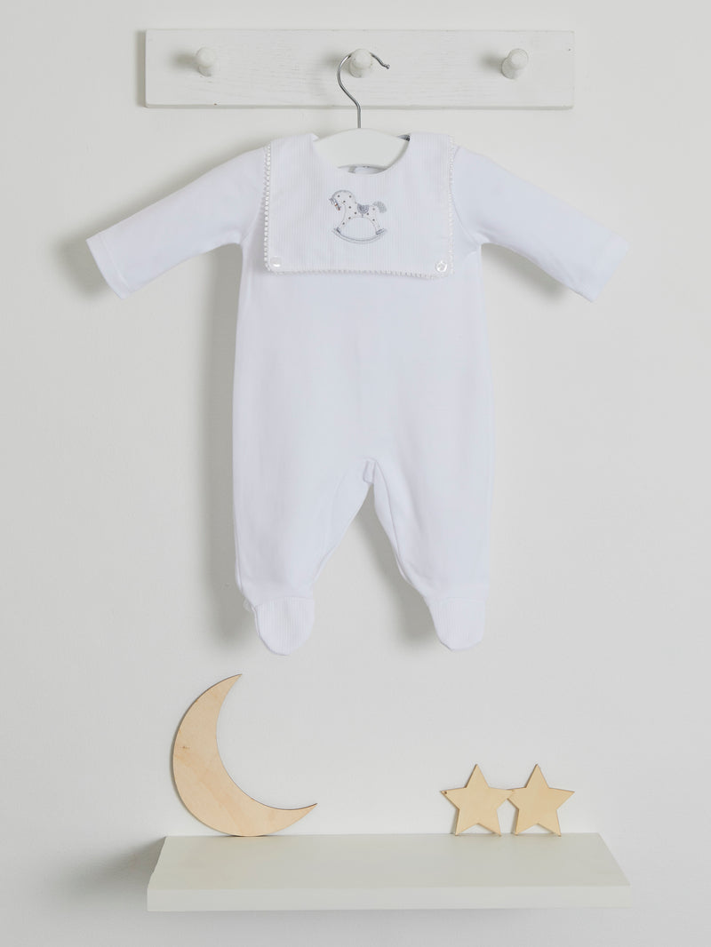 Blues Baby embroidered sleepsuit - Rose & Albert