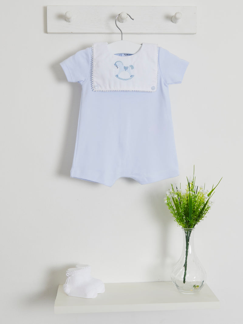 Blues Baby embroidered romper - Rose & Albert
