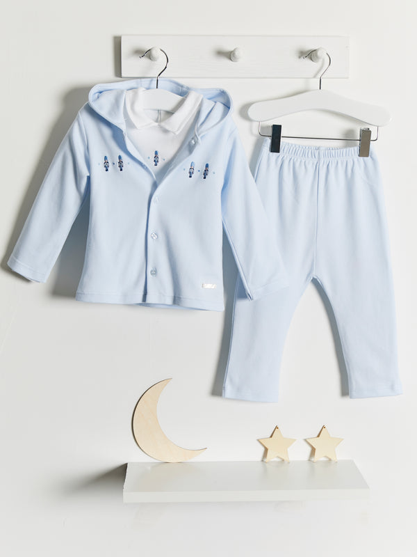 Blues Baby hooded 3 piece set - Rose & Albert