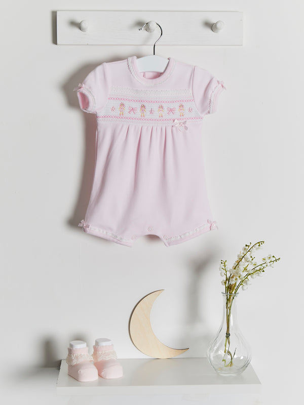 Blues Baby Rag Doll Smocked Romper - Rose & Albert