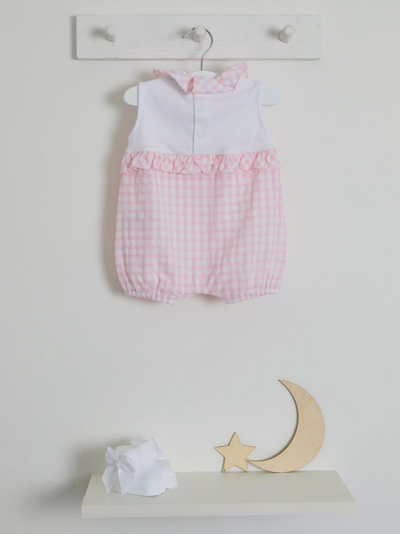 Blues Baby gingham woven romper - Rose & Albert