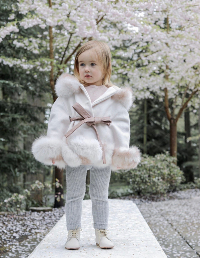 Petit Maison Kids Siberian Dream Wool Cape pre order - Rose & Albert