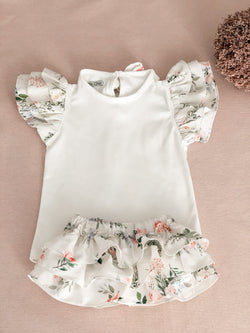 SS21 Fofettes Floral Bloomer & top set