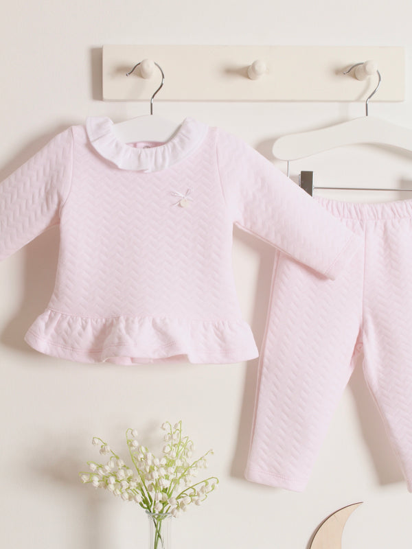 Babidu frill collar quilted 2 piece set - Rose & Albert