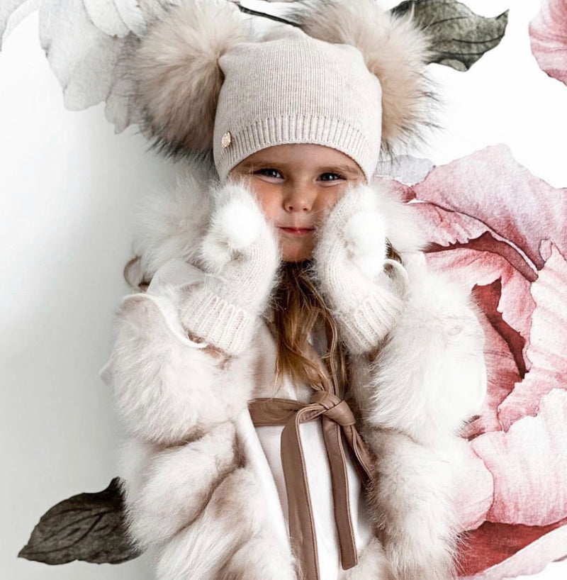 Petite Maison Kids Siberian Dream Wool Cape