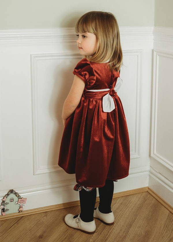 Kidiwi red velvet dress