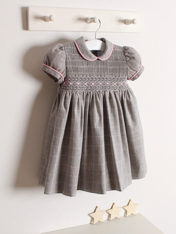 Rose and Albert classic hand smocked checked dress