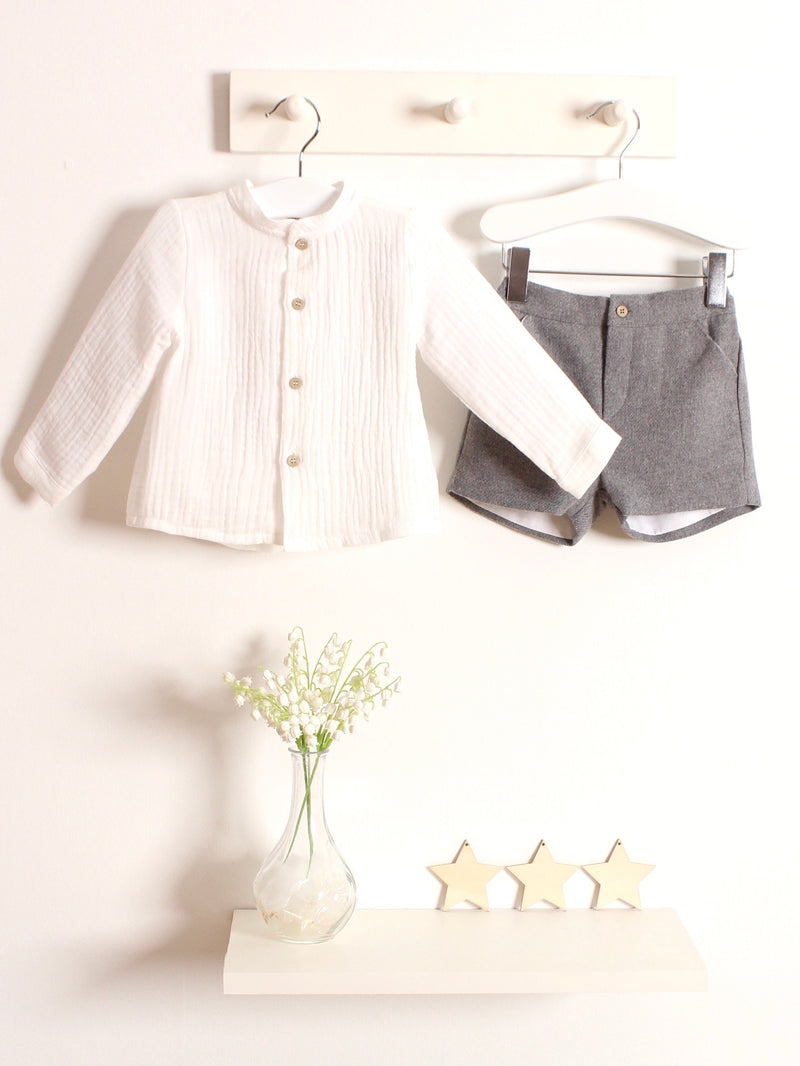 Babidu shirt & wool shirt set - Rose & Albert