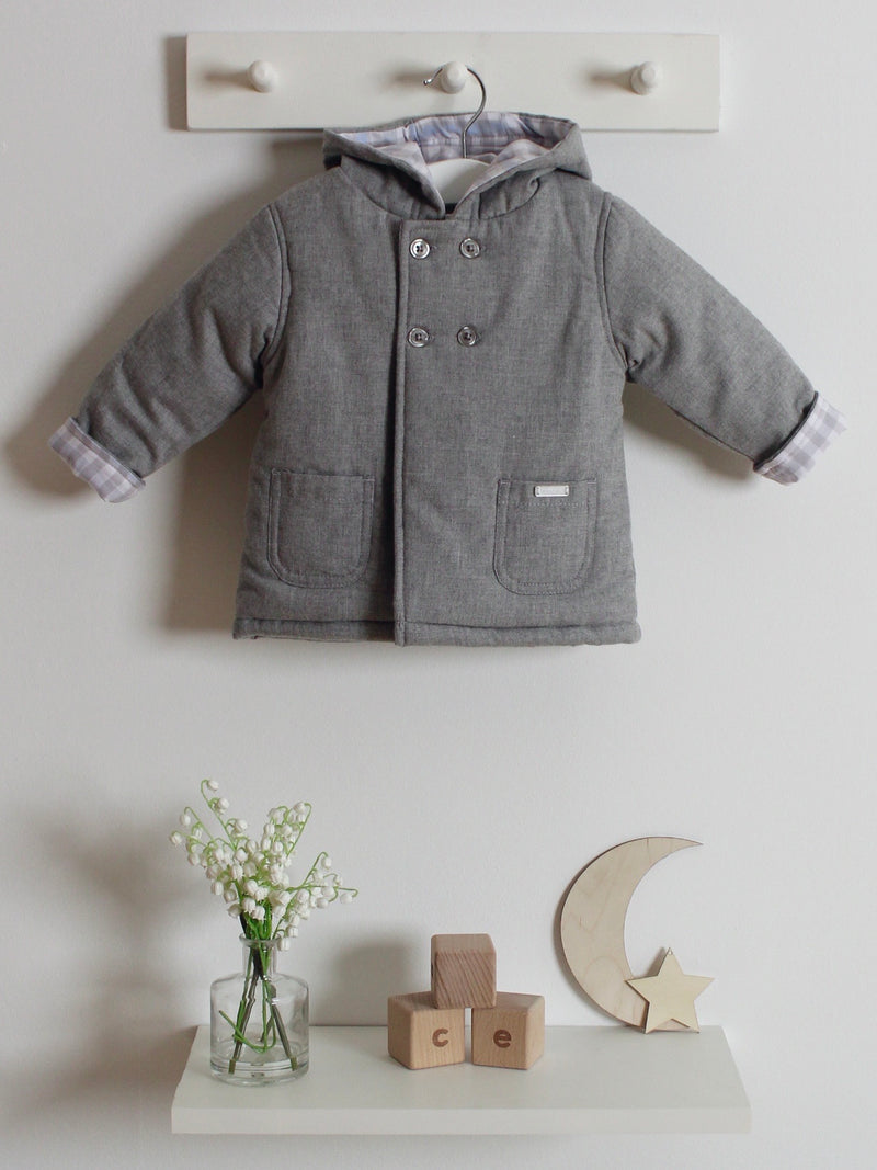 Blues Baby hooded double breasted coat