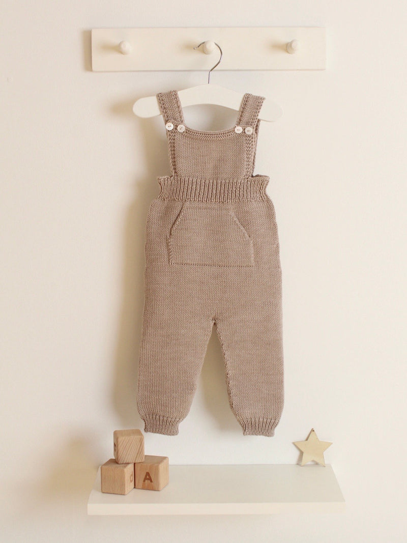 Wedoble Chunky Knitted Dungarees - Beige