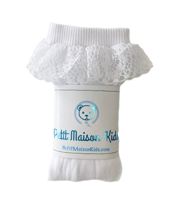 Petite Maison Kids Lana ruffle knee high socks