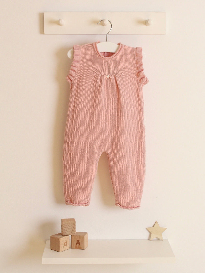 Wedoble frill sleeve jumpsuit - pink