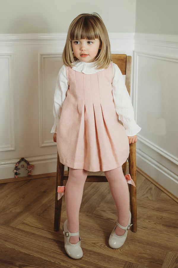 Babidu pleated dress pinafore and shirt