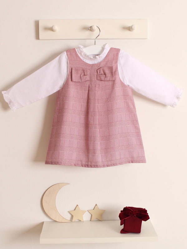 Babidu check dress & blouse set