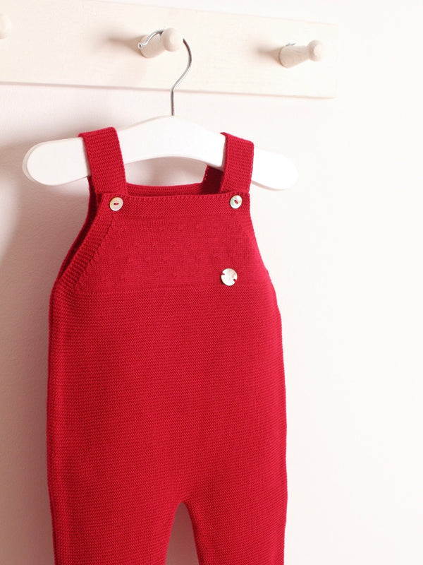 Granlei knitted dungaree red
