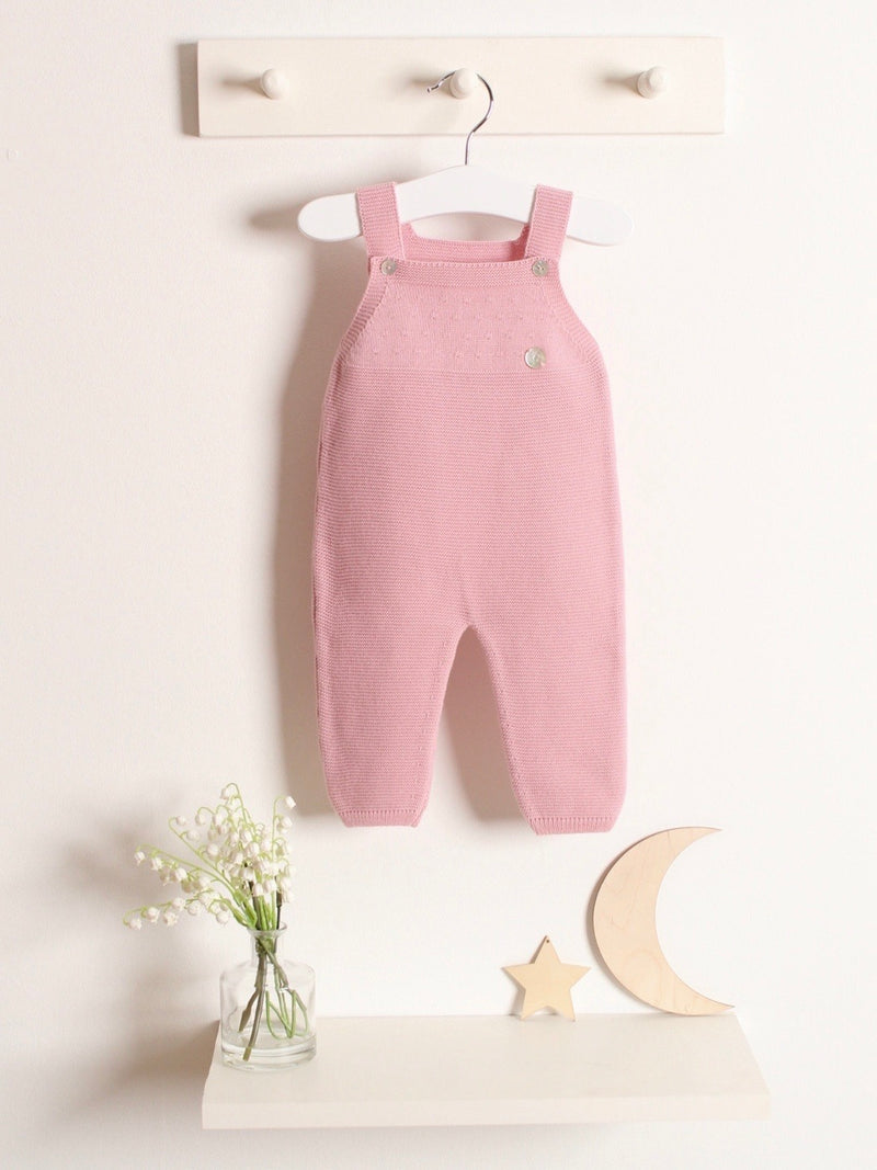 Granlei knitted dungaree pink - pre order