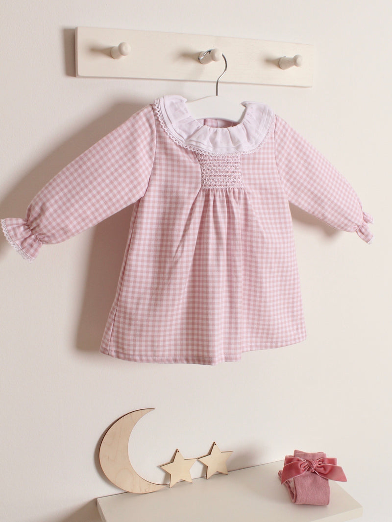Babidu frill collar gingham dress