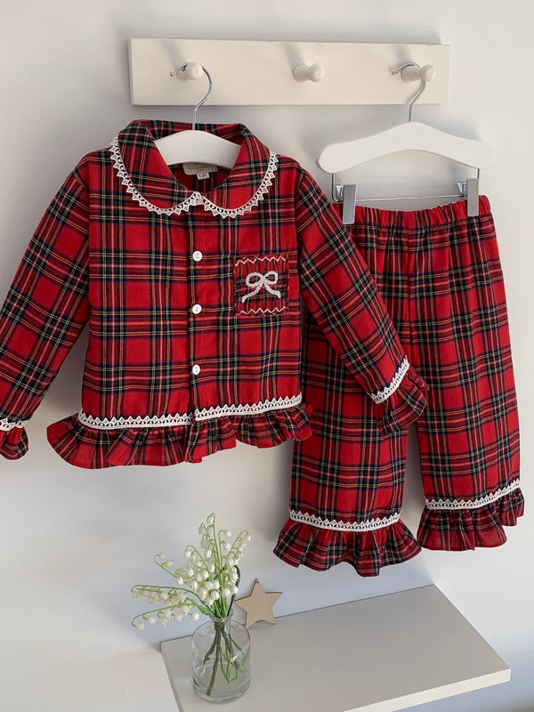 Caramelo Kids girls tartan pyjamas