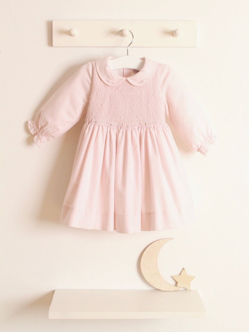 Kidiwi Pink Smocked Cotton Dress - Pre Order