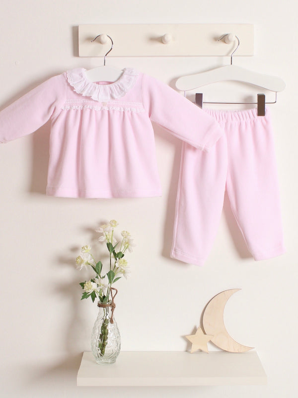 Babidu velour frill collar 2 piece set