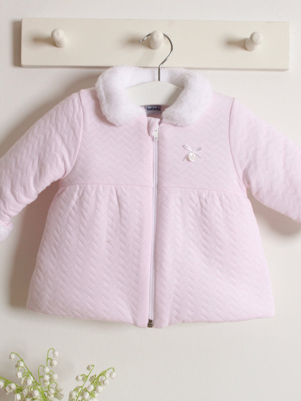 Babidu quilted fleece collar coat - Rose & Albert