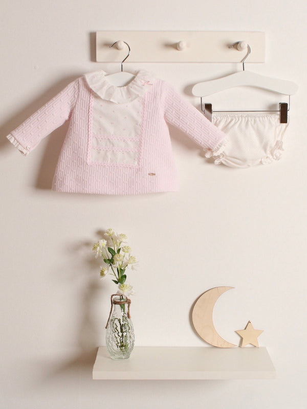 Yoedu Textured dress & knicker set