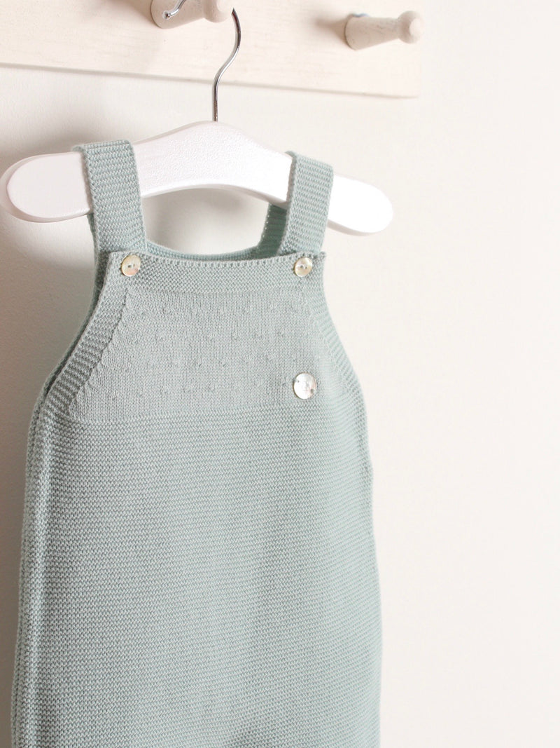 Granlei knitted dungaree green