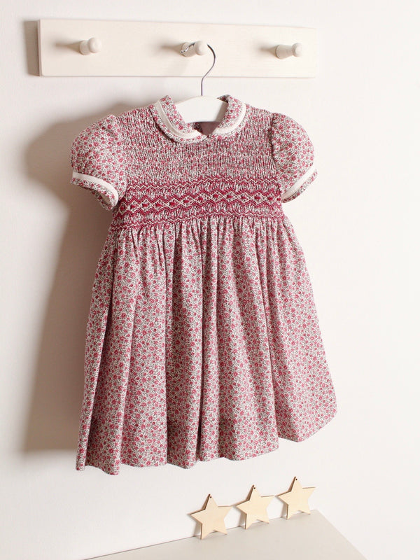 Rose and Albert classic hand smocked floral dress