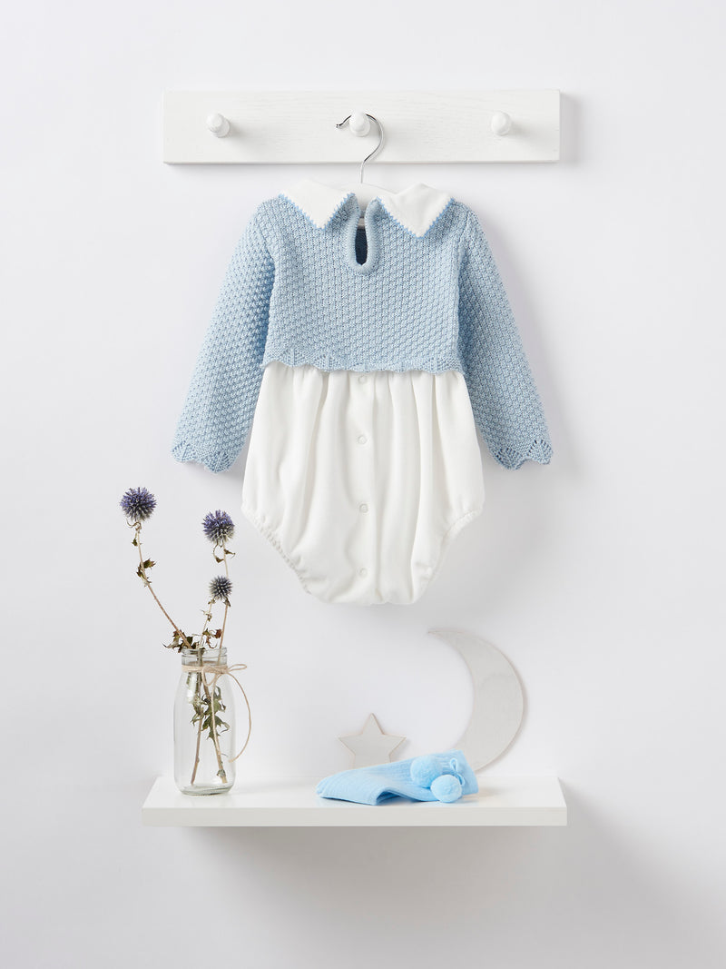 Caramelo kids knit & velour romper - Rose & Albert