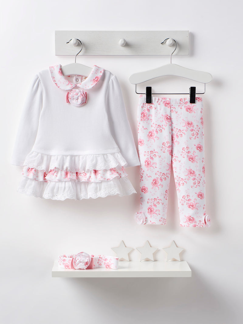 Mintini dress, legging & headband set - Rose & Albert