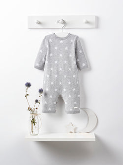 Blues baby blue stars knit romper - Rose & Albert