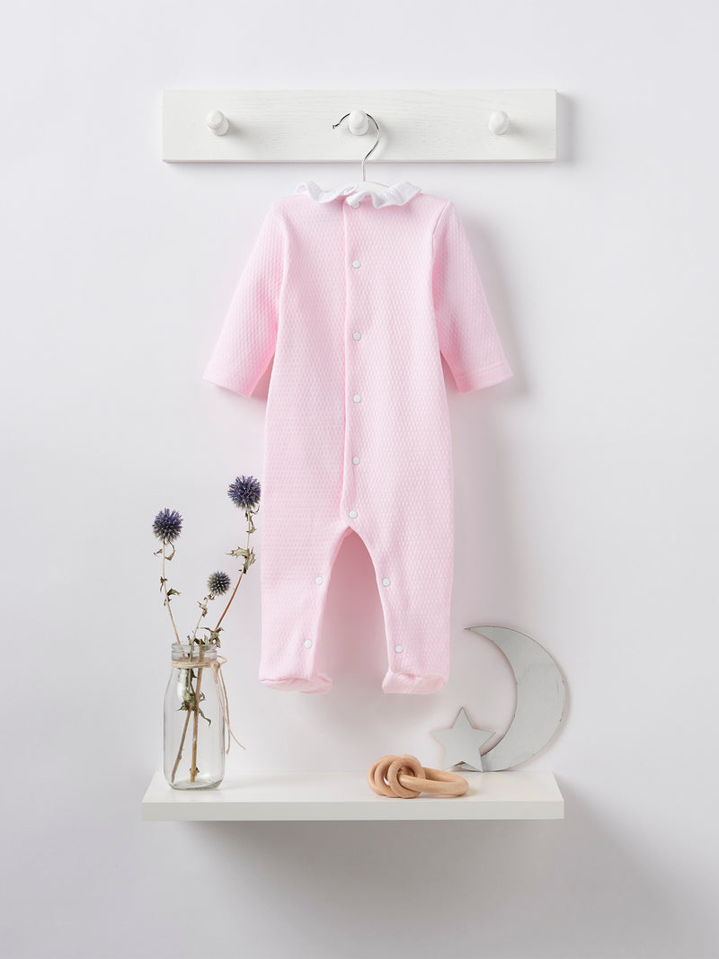 Babidu frill sleepsuit - Rose & Albert