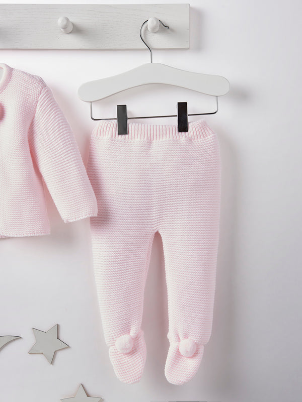 Dandelion pom pom knitted set - pink - Rose & Albert
