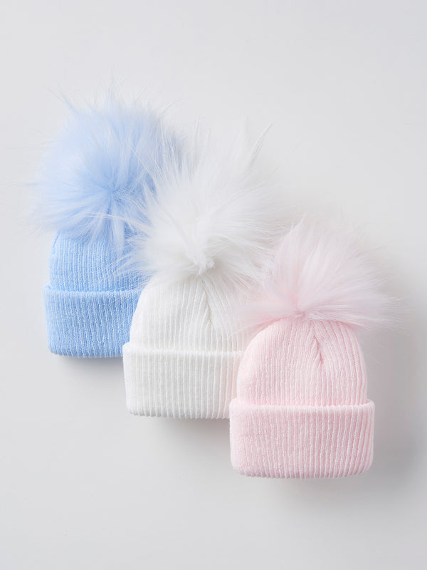 Pom pom hat (0-12 months) - Rose & Albert