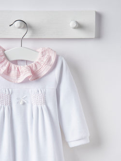 Babidu frill collar velour all in one - Rose & Albert