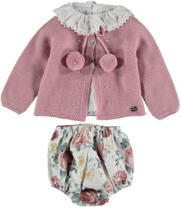 Juliana Knitted Floral 3 piece set pre order