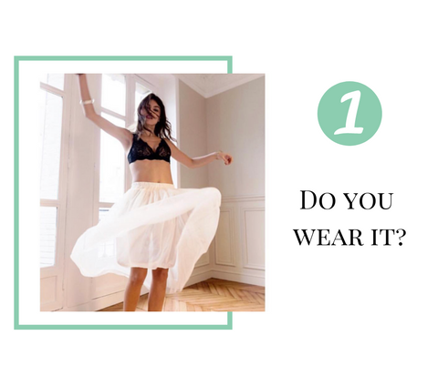 Organising your lingerie drawer, do you wear it?