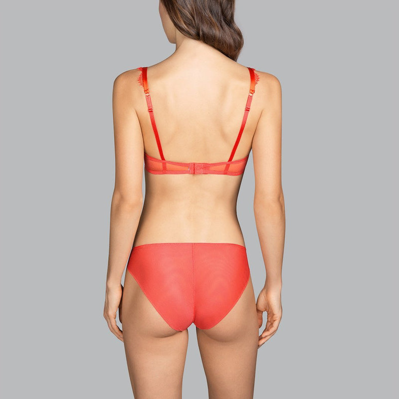 Andres Sarda, Love, full cup, no padded, underwired, lace, bra, spicy berry, orange, Caroline Randell.