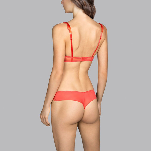 Andres Sarda, Love, thong, tanga, spicy berry, orange, Caroline Randell.